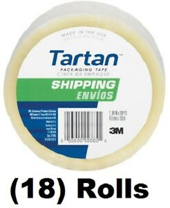 18 Rolls 3m Tartan 3710dc 1 88 X 54 6 Yd Clear Packing Packaging Shipping Tape
