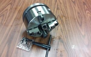 8 4 jaw Self centering Lathe Chuck Top bottom Jaws W 1 1 2 8 Adapter new