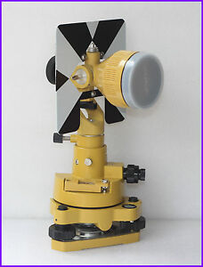 Yellow Metal Prism Set For Topcon sokkia nikon pentax Total Stations Surveying