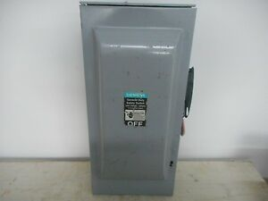 Siemens Gf223nr 100 Amp 240v Disconnect Indoor Safety Switch Fusible