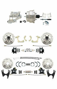 Gm 1959 64 Front Rear Chrome Power Disc Brake Conversion Kit Black Pc Calipers