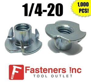 qty 1000 3 Prong T nut 1 4 20 X 7 16 tee Nut Zinc Plated