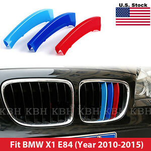 M Tech Kidney Grill Grille 3 Colour Cover Clips For Bmw X1 E84 Year 2010 2015
