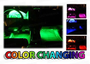 4pc Led Glow Interior Chevy Cars Kit Radio Dash Footwell Smd Accent Lighting