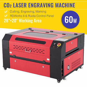 60w 110v Co2 Laser Engraving Machine Laser Engraver Cutter 20 X 28 700x500mm