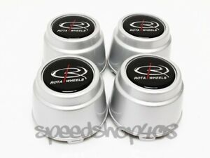 Rota Wheels Center Caps Silver Alfa Romeo 4pcs Replacement Rb