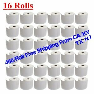 16 Rolls 450 roll 4x6 Direct Thermal Shipping Labels Zebra Eltron Lp2844 Zp450
