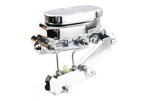 Chevy Chrome Aluminum Smooth Flat Top Master Cylinder W Proportioning Valve