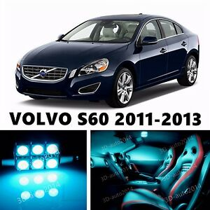12pcs Led Ice Blue Light Interior Package Kit For Volvo S60 2011 2013