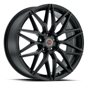 20 Inch Revolution Racing R18 Satin Black Wheel Rims Tires Fit Toyota Honda