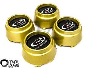 Rota Wheels Center Caps Gold 4pcs Replacement Set P45r P45 Rb