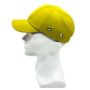 Yellow Baseball Bump Caps Lightweight Safety Hard Hat Head Protection Caps