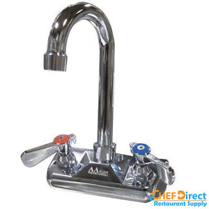 Commercial Kitchen 4 Wall Mount Faucet W 3 1 2 Spout Handsink Faucet