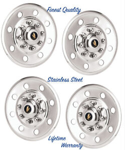 16 Trailer Truck Van Snap On Wheel Rim Covers Hubcaps Stainless Steel Set