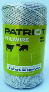 Patriot 809759 Poliwire 660 Ft Roll Electric Fence Wire Polywire Poly Wire