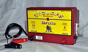 Cyclops Brute Battery Powered 8 Joule Electric Fence Charger Energizer Fencer
