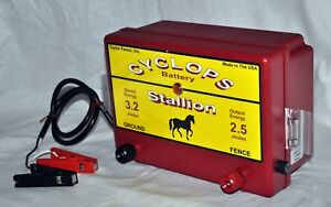 Cyclops Stallion Battery Powered 2 5 Joule Electric Fence Charger Energizer