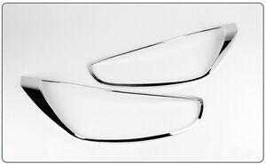 Chrome Head Lamp Molding For Hyundai New Accent Verna solaris 2010 on