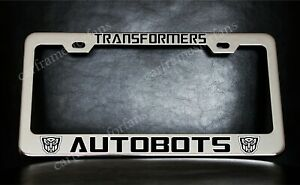 Transformers Autobots Chrome Plated Metal License Plate Frame