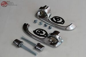 Chevelle El Camino Outside Exterior Chrome Door Handles Pair W Push Buttons New