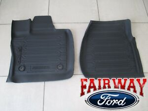 15 Thru 20 F 150 Oem Genuine Ford Tray Style Molded Floor Mat Set 2 pc Reg Cab
