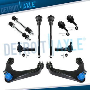 10pc Front Upper Control Arm Tie Rod Kit For Chevy Gmc Silverado 2500hd Pickup