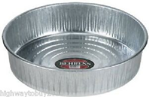 6 Behrens 2168 Galvanized 3 Gallon 16 1 Pc Seamless Hog Pan Tray Feeders