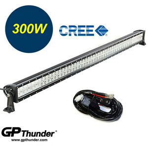 52in 6000k Off Road 300w Cree Led Fog Lamp Work Light Bar For Jeep Suv 4wd relay