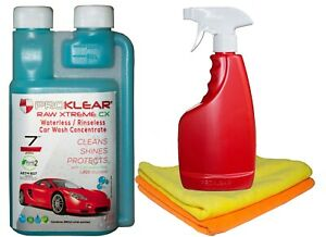 Proklear Raw Xtreme Cx Rinseless Waterless Car Wash And Wax Concentrate