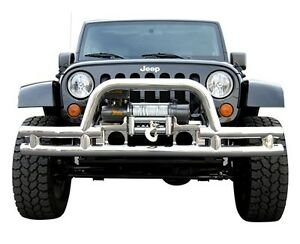 Jeep Wrangler Jk Front Bumper Cut Out For Winch With Hoop 2007 2014