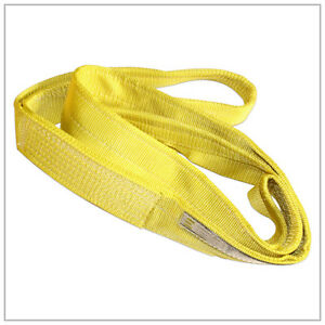 Tuff Tag 4 X 12 Ft Nylon Web Lifting Sling Tow Strap 2 Ply Ee2 904 Eye