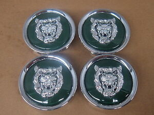 Jaguar Oem Green Wheel Center Cap Set Of 4 Mna6249ab Xj8 Xk8 Xjs
