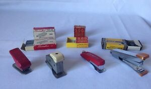 Vintage Presto 30 Stapler Regal Model 25 Swingline Tot 50 Clix Single Punch