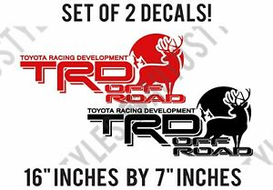Toyota Racing Trd Off road Deer Hunting Fits Tacoma Tundra Pair Of Decal Sticker