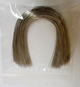 300 Pieces 014 Upper Natural Stainless Steel Orthodontic Arch Wire