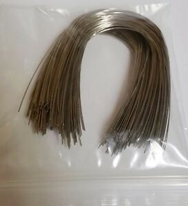 300 Pieces 014 Lower Natural Stainless Steel Orthodontic Arch Wire