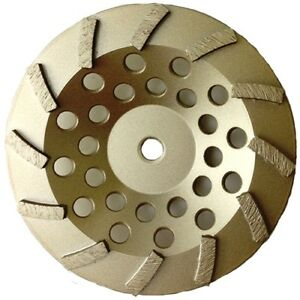 7 Diamond Cup Wheel Turbo Swirl 12 Segs Arbor 5 8 11 For Grinding Concrete
