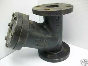 New Keckley 125lb Y strainer Valve 2 Flange Style a