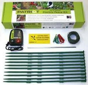 Patriot Pet Garden Electric Fence Complete Kit Fencer Garden Pest Control Dog