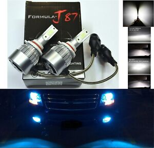 Led 80w 9005xs Hb3a White 5000k Two Bulbs Head Light High Beam Replacement