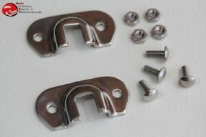 Early Ford Car Truck Model A Stainless Steel Radiator Support Rod Brackets Pair