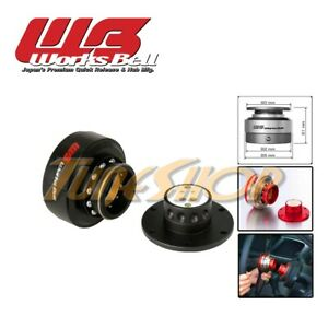 Worksbell Rapfix Ii Quick Release Steering Wheel Hub Spacer Ball Lock Black