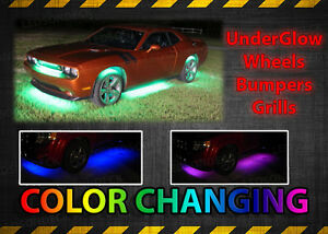 8pc 18 Color Led Neon Rgb Underbody Underglow Car Kit Wheel Well Lights Combo