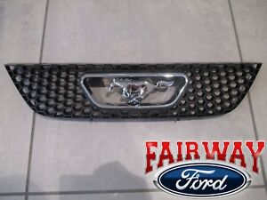 99 Thru 04 Mustang Oem Genuine Ford Honeycomb Grille W Chrome Pony Emblem New