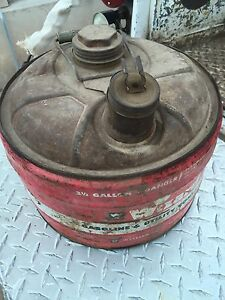 Rare Vintage Old Western Auto Supply Co 2 1 2 Gallon Metal Tin Can Man Cave