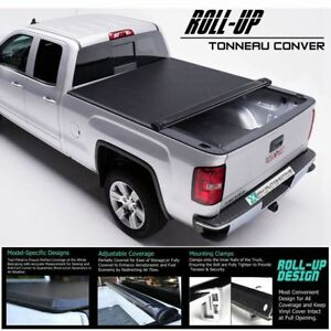 Roll Up Lock Soft Tonneau Cover Fit 2007 2013 Chevy Silverado 5 8 Short Bed
