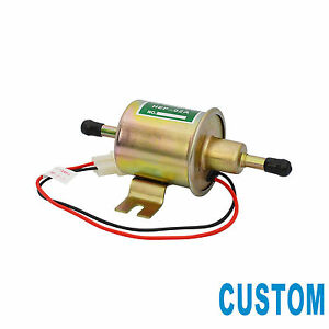 Custom 12v Electric Fuel Pump Metal Solid Gas Diesel Inline Low Pressure Hep 02a