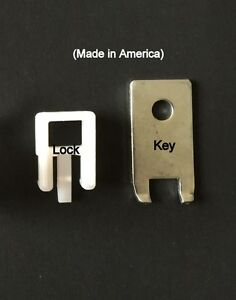 500 Pack White Peg Locks Only Fits Our Plastic Pegboard Hooks with 20 Keys