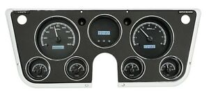 67 72 Chevy Truck C10 Dakota Digital Black Alloy White Vhx Analog Gauge Kit