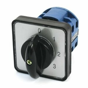 Panel Mount 5 position Universal Rotary Cam Changeover Switch Ca10 0 1 2 3 4